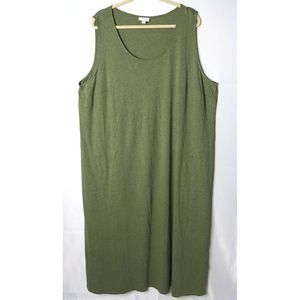 J. Jill Pure Green Sleeveless Tank Shift Dress 3X